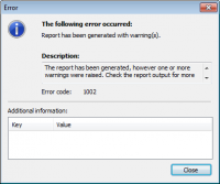 CashView error message dialog