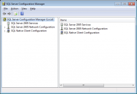 SQL Server 2005 configuration manager screen